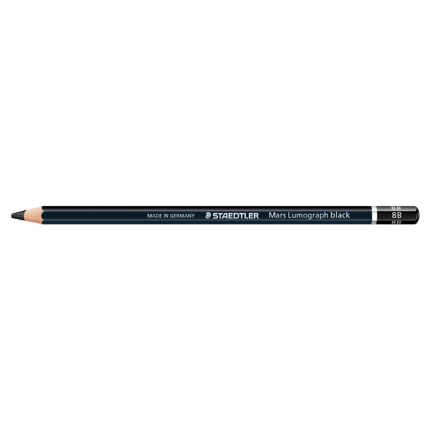 Creion Staedtler Grafit Lumograph Black cu varf gros 100B