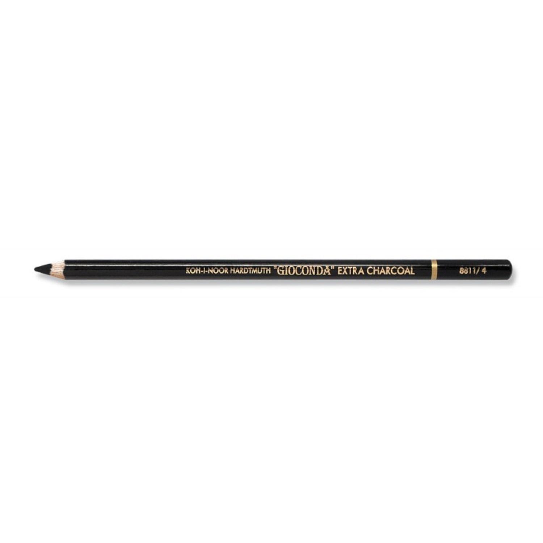 Creion Gioconda Koh-i-Noor extra carbune natural negru hard K8811-4