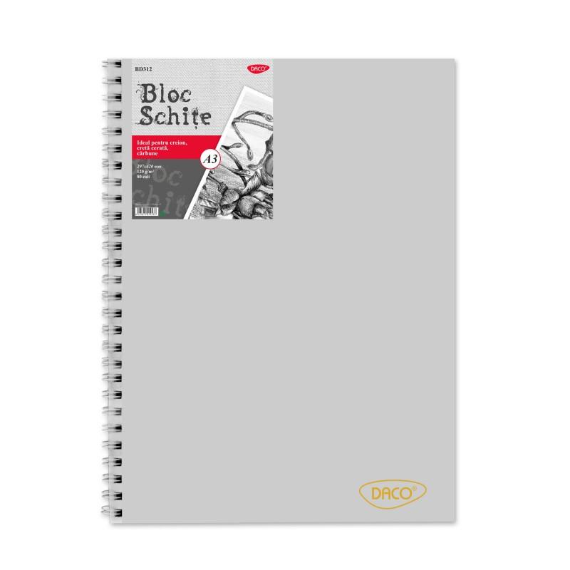 Bloc A3 schite Daco 120G 80 file BD312