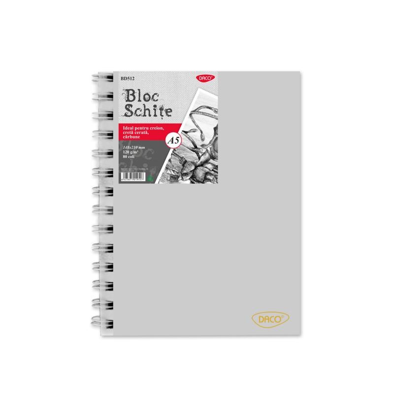 Bloc A5 schite Daco 120G 80 file BD512