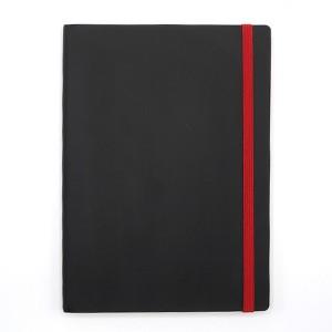 Agenda cu elastic A5 Velvet neagra 11620680