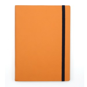 Agenda cu elastic A5 Velvet portocalie 11620616