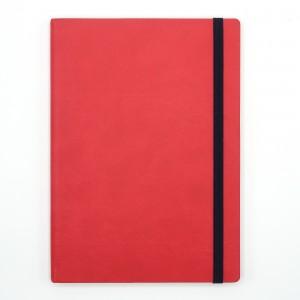 Agenda cu elastic A5 Velvet rosie 11620620