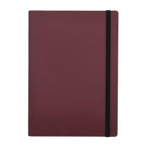 Agenda cu elastic A5 Velvet burgundy 11620624