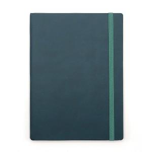 Agenda cu elastic A5 Velvet verde inchis 11620645