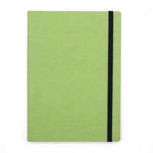 Agenda cu elastic A5 Velvet verde lime 11620647