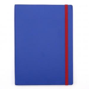 Agenda cu elastic A5 Velvet albastra 11620650