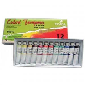 Culori tempera 12 culori Ecada 96012
