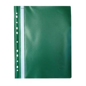Dosar din PVC Noki cu sina si multiperforatii verde NK482011160