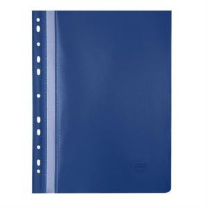 Dosar din PVC Noki cu sina si multiperforatii albastru NK482011130