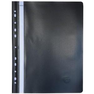 Dosar din PVC Noki cu sina si multiperforatii negru NK482011190