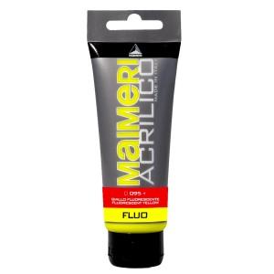 Culoare Maimeri acrilico fluorescent 75 ml fluorescent yellow 0916095