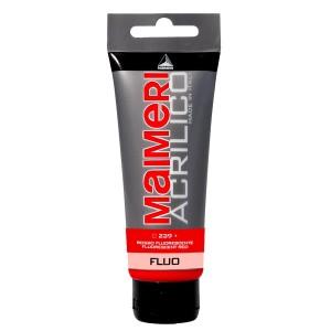 Culoare Maimeri acrilico fluorescent 75 ml fluorescent red 0916239