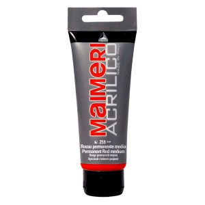 Culoare Maimeri acrilico 75 ml permanent red medium 0916259