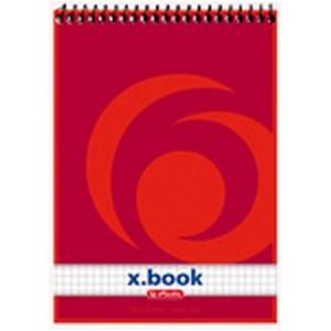 Bloc Notes A6 50 file de matematica cu spira Herlitz  X.Book 110635