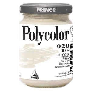 Culoare acrilica Maimeri polycolor 140 ml zinc white 1220020