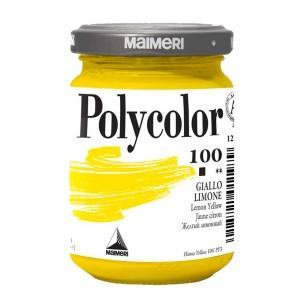 Culoare acrilica Maimeri polycolor 140 ml lemon yellow 1220100