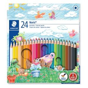 Creioane colorate Staedtler Noris 24 culori / set ST-144-NC24