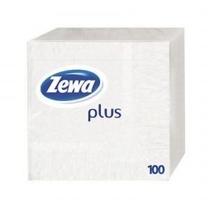 Servetele de masa Zewa Plus White 100 ZPW100