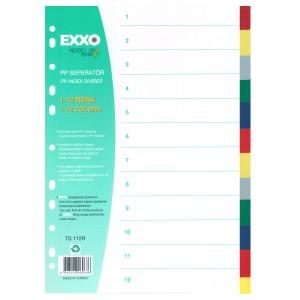 Separatoare plastic Exxo 2 x 6 culori E563