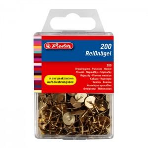 Pioneze metalice aurii 200 bucati / cutie 8770208
