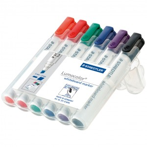 Marker tabla Staedtler 6 culori / set ST351WP6