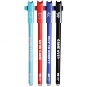Roller gel cu rescriere 0.5 mm albastru Games 412001GA-3KP40