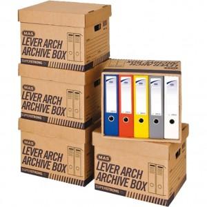 Containere arhivare cu capac MAS 10 bucati / set E8200M