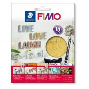 Fimo foite metal auriu 14X14, 10 buc/set STH-8781-11