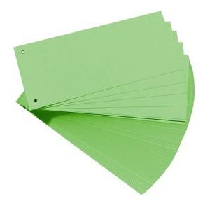 Separatoare biblioraft din carton KOLIBRI 105x240mm verde EX-46203