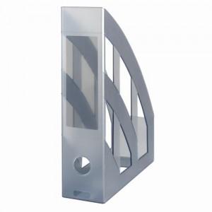 Suport vertical plastic A4 gri translucid Herlitz 9471380