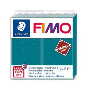 Lut polimeric Fimo Leather Effect lagoon pentru modelaj STH-8010-369