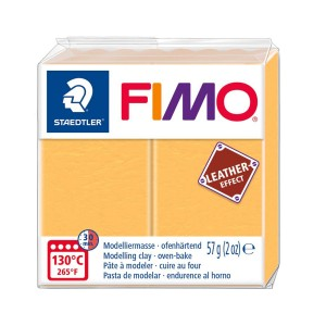 Lut polimeric Fimo Leather Effect saffron yellow pentru modelaj STH-8010-109