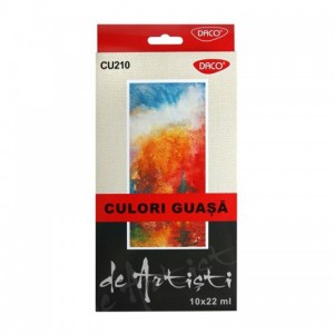 Culori guse Artist 10 culori 22 ml Daco CU210