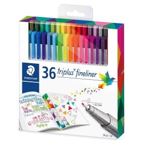 Set fineliner triplus Staedtler Johanna Basford 36 culori / set ST-334-C36