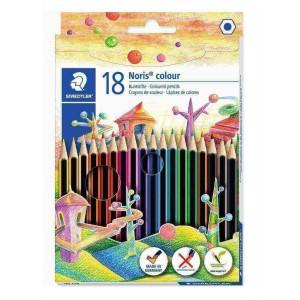 Creioane colorate Staedtler Noris wopex 18/set ST-185-C18