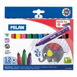 Carioca 12 culori Maxi Milan 80020