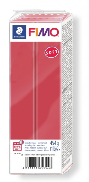 Lut polimeric Fimo Soft pentru modelaj Cherry Red 454g STH-8021-26