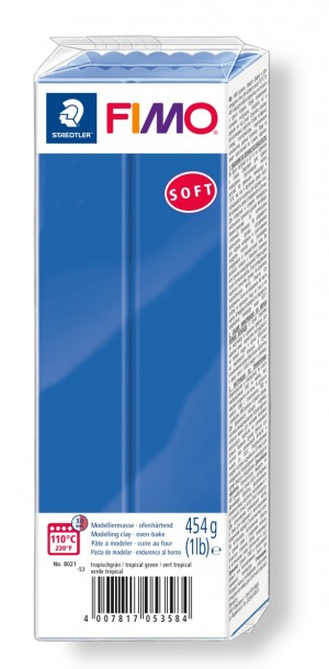 Lut polimeric Fimo Soft pentru modelaj Brilliant Blue 454g STH-8021-33