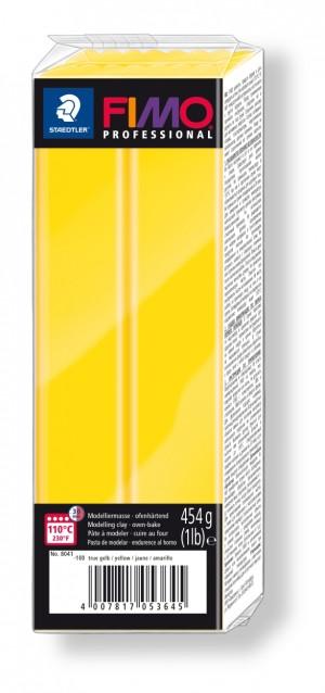 Lut polimeric Fimo Professional pentru modelaj True Yellow 454g STH-8041-100