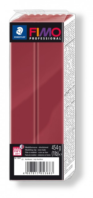 Lut polimeric Fimo Professional pentru modelaj Bordeaux 454g STH-8041-23