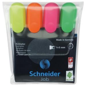 Set textmarker Schneider Job 4culori/set 2992