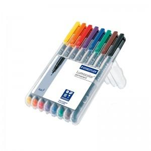 Marker permanent Staedtler Lumocolor 0.6 mm F permanent 8 culori/set ST-318-WP8