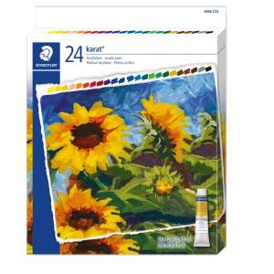 Set culori acrilice Staedtler karat 24/set STH-8500-C24