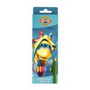 Creioane colorate Koh-I-Noor 18 bucati/set Girafa K3553-18G
