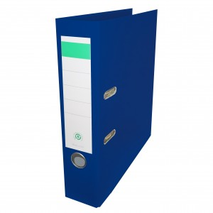 Biblioraft plastifiat Papet 8cm bleumarin E564011
