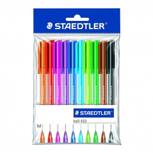 Set pix cu capac Staedtler 432 Ball M 10 culori /set ST-43235MPB10