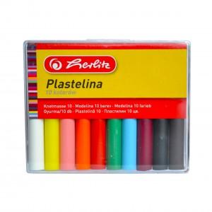 Plastilina Herlitz 10 culori cutie plastic 9562927