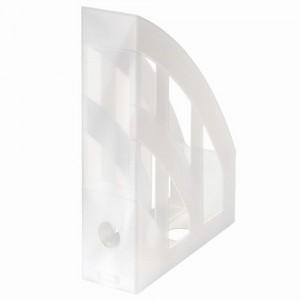 Suport vertical plastic A4 alb translucid Herlitz 10167443