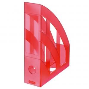 Suport vertical plastic A4 rosu translucid Herlitz 10653822